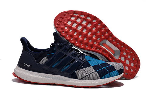 Mens Adidas Ultra Boost Black & Blue Printing Outlet Online